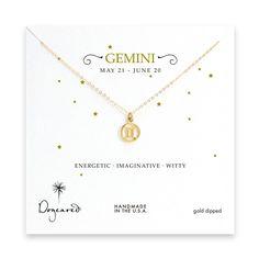 Gemini necklace. Get in-depth info on Gemini traits & personality @ http://www.buildingbeautifulsouls.com/zodiac-signs/western-zodiac/gemini-star-sign-traits-personality-characteristics/