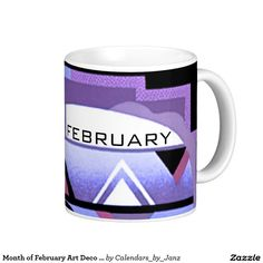 Month of February Art Deco Coffee Mug by Janz