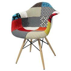 Cadeira Charles Eames Patchwork Base Madeira - 19100 More