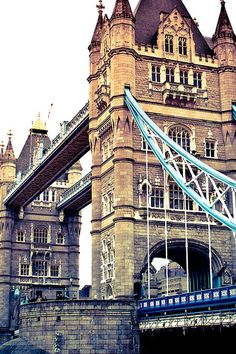 Tower Bridge, London - walked across this bridge on my honeymoon in a driving rainstorm.