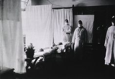 Spanish Flu Epidemic 1918-19. An pneumonia ward at the U. S. Army Evacuation Hospital in Prum, Germany during the Spanish Flu epidemic.