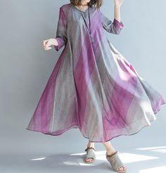 Love oversized loose long maxi dress by MaLieb on Etsy Jacket Pattern, Mori Girl, Linen Dresses, Sewing Clothes, Indian Dresses, Modest Fashion, Designer Dresses, Western Kurtis, Evening Dresses