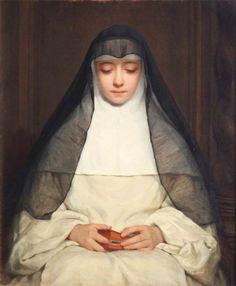 Henriette Browne - A Nun (Mme Jules de Saux) 1850-70 (Sudley House, Liverpool, United Kingdom)