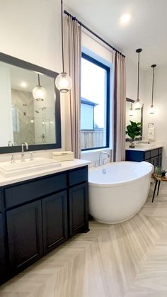 Modern Bathroom Design, Bathroom Interior Design, Master Bathroom Designs, Small Master Bathroom Ideas, Master Bathroom Plans, Master Master, Master Bedroom Bathroom, Master Baths, Basement Bathroom
