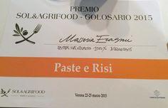 Sol&Agrifood, a due pastifici abruzzesi il premio Golosario - L'Abruzzo è servito   Quotidiano di ricette e notizie d'AbruzzoL'Abruzzo è servito   Quotidiano di ricette e notizie d'Abruzzo