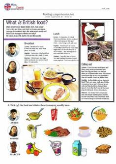 Reading Comprehension Test - 2nd year Language: English Grade/level: 2nd year (A1) School subject: English as a Second Language (ESL) Main content: Food and drinks Other contents: English Worksheets For Kids, 2nd Grade Worksheets, English Activities, Reading Worksheets, Toddler Learning Activities, Creative Activities, Kids English, English Food, English Lessons
