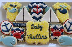 Nautical Baby Shower Cookies by JaclynsCookies on Etsy
