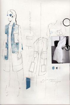 Fashion Sketchbook - fashion design sketches; tailoring development; fashion drawings; fashion portfolio // Alexandra Baldwin