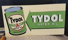 Original Tydol Motor Oil Painted Metal Sign
