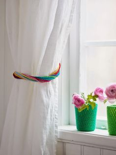 Plant Pot Covers and Curtain Tie-Back Inspiration ❥ 4U // hf  http://www.pinterest.com/hilariafina/