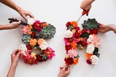 swellmayde: DIY   Floral Letters