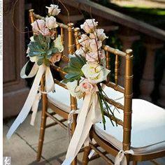 Como decorar las sillas de los novios - bodas