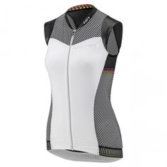87d467e4 Women's Course 2 Sleeveless Cycling Jersey Black/Pink/Yellow Cycling  Clothes, Cycling Outfit
