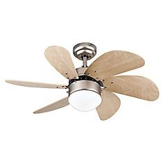 Ceiling Fan Turbo Swirl Brushed Aluminium Finish