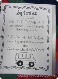 If you poke around on her blog, you'll find a nifty song for each month of the year to help kids remember how to spell the months.