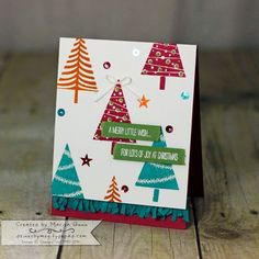 Fancy Friday November 2015, non-traditional Christmas color theme with Festival of Trees (Stampin' Up!) by Marisa Gunn