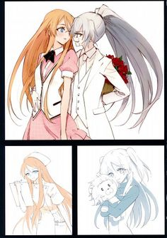 Minakata Sunao Mangaka Akuma no Riddle Series Akuma no Riddle Clear Fil... Artbook Banba Mahiru Character Hanabusa Sumireko Character Kirigaya Hitsugi_View full-size (1409x2000 538 kB.)