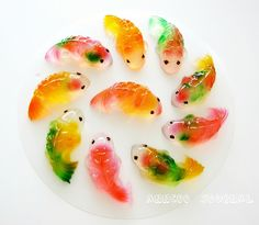 Koi Fish Jelly 年年有余 Recipe (Anncoo Journal), made with agar agar powder