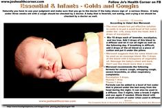 Essential Oils & Infants ~ Colds and coughs