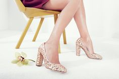 Etta sequin pumps from the J.Crew Italian Shoe Collection. Pin your shoe story for a chance to win a trip to NYC and a J.Crew shopping spree. #myshoestory #jcrew http://www.vogue.com/promotions/jcrew