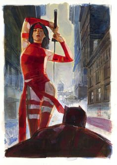 Daredevil Encounters Elektra - Alex Maleev