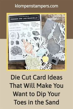 OMG! Take these fabulous die cuts, stamp them, emboss them and put them on handmade cards, scrapbook pages or other clever paper craft projects. These are super cute and will work for your DIY crafts all spring and summer long! www.klompenstampers.com