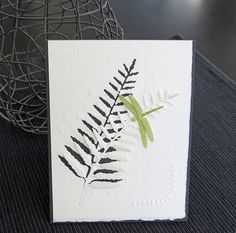 Fern image with the polka dot stenciled background