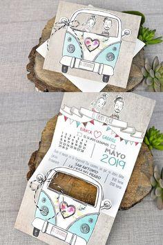 www bodastyle com Invitación boda furgoneta vintage novios invitacionesdeboda is part of Wedding in Creative Wedding Invitations, Wedding Invitation Cards, Wedding Stationery, Wedding Planner, Event Invitations, Wedding Events, Our Wedding, Dream Wedding, Wedding Ideas