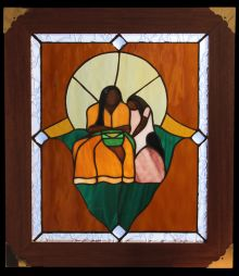 StainedGlass Masterpiece Of Mother And Daughter Making SweetGrass Baskets | #Kitigan #Art
