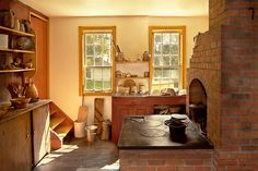 This is a typical farm kitchen of the 1840's. While the Victorian era kitchens area bit more modern, this one sticks with the the basics. The sink is a simple basin, you still need to pump the water and bring it inside. The stove is wood fueled, you can almost smell the wood burning.  Can you imagine what it must have like back then? Waking early, pumping water, getting firewood, and slowly cooking breakfast for the family? #savad #kitchen