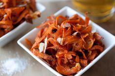 Sweet Potato and Parmesan Chips - prep time 5 mins!