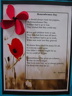 Runde's Room: Remembering Remembrance Day - includes video appropriate for reminding about the importance of a few moments of silence Veterans' Day Remembrance Day Poems, Remembrance Day Activities, Veterans Day Activities, Craft Activities, Veterans Day Poem, Poppies Poem, Poppy Craft, Armistice Day, Anzac Day