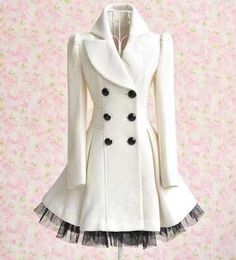 Beautiful White Pea Coat