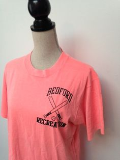 Vintage Belmont Recreation Neon Tshirt by 21Vintage on Etsy, $15.00