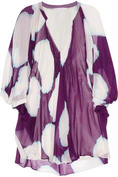 Diane von Furstenberg|Fleurette printed silk-chiffon dress|NET-A-PORTER.COM