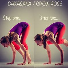 Bakasana (Crow Pose)... I can hold this for about 5 seconds... which is pretty damn amazing.