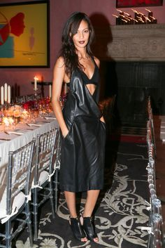 Joan Smalls at W magazine's 40th anniversary party in New York.