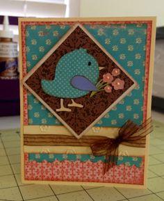 ~ Marilyns Cricut Cards ~: 3 Birds on Parade