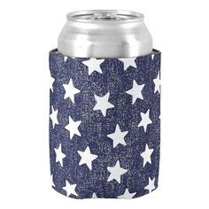 Fourth of July Patriotic Can Cooler