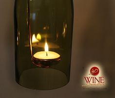 Wine Bottle Candle Lanterns