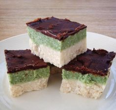 Coconut and Peppermint Slice