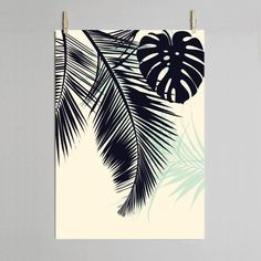 Dowse Palm Leaf Print (65 CAD) ❤ liked on Polyvore featuring home, home decor, wall art, palm leaf wall art and signed poster