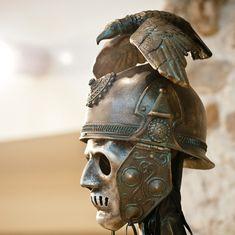 Helmet Mask Celtic Helmet Ancient Steampunk Men by BirdArtBulgaria