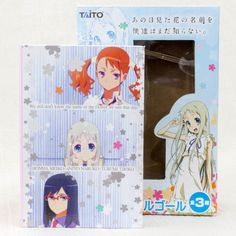 "Anohana Book type Music Box "" Secret Base "" Flower We Saw That Day Taito JAPAN"