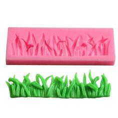 Forma de silicon pentru prajituri in forma de camp cu iarba