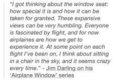 Jim Darling on his 'Airplane Window' series