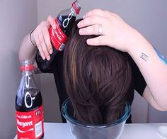 "Ellko, beauty guru tries bizarre and interesting beauty hacks to see if they really work. She tries the infamous ""Coca-Cola Hair Rinse"" and see what happens Beach Curls, Beachy Hair, Beauty Youtubers, Crazy Hair Days, Pelo Natural, Hair Rinse, Textured Hair, Coke, Hair Hacks"