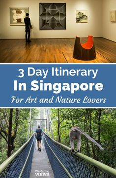 This is the perfect 3-day Singapore if you love art and nature. Things to do in Singapore include trails, gardens, galleries, museums and public art. And get tips on how to plan your trip.