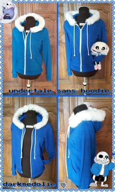 Undertale sans cosplay hoodie and plush...I want