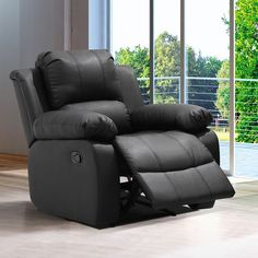Get the rest and relaxation you deserve when you kick back on this modern living room rocking recliner chair. Enjoy the support offered by this chair's plush stuffing and sturdy wood frame. Incorporat